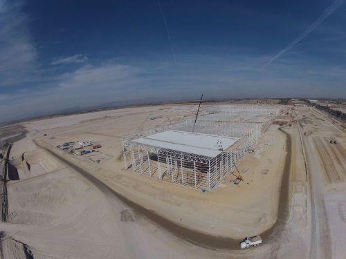 Vista aérea de cómo va la construcción