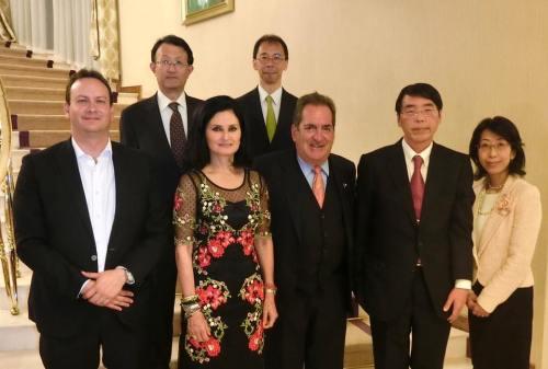 Con el embajador de Japón en México